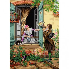 TAPESTRY CANVAS My Valentine after Pierre Outin 50X70cm 2929R