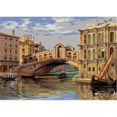 TAPESTRY CANVAS Rialto Bridge after Antonietta Brandeis 50X70cm 3135R