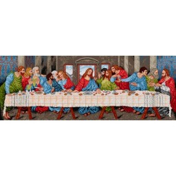TAPESTRY CANVAS The Last Supper after Leonardo da Vinci 55 x 150cm 1420Y