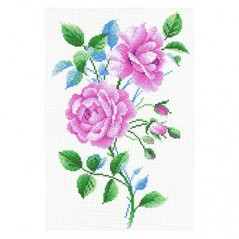 Canvas for Cross Stitch PINK VINTAGE SK-096