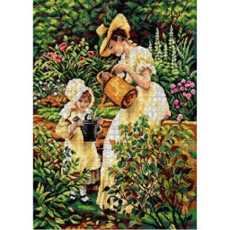 TAPESTRY CANVAS Young Gardener 50X70cm 2986R