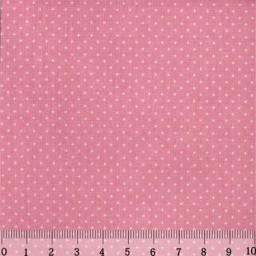 Fabric for Patchwork, crafting and embroidery Dots 2mm Dark Rose 2 AM556023T