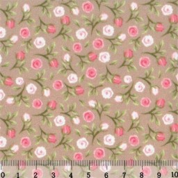 Fabric for Patchwork, crafting and embroidery WATERCOLOR ROSES N12 AM572012T