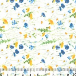 Fabric for Patchwork, crafting and embroidery FIELD FLOWERS N1 AM589001T