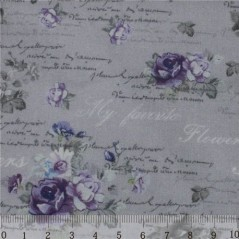 Fabric for Patchwork, crafting and embroidery BUTTERFLIES AND ROSES N2 AM613002T