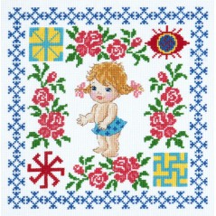 Cross Stitch Kit Baby girl art. 88-02