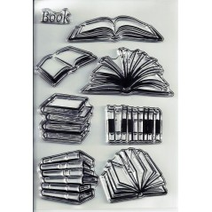 1 pc Book Patterns Transparent Clear Silicone Stamp DIY scrapbooking