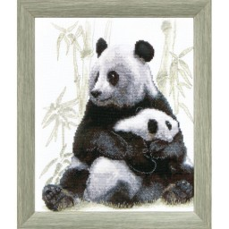 Cross Stitch Kit Hide-and-seek game (panda) BT-063