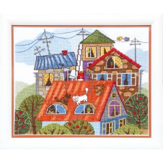 Cross Stitch Kit At the roof BT-092
