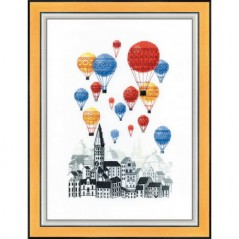 Cross Stitch Kit Travel on hot air balloons BT-193