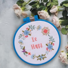Cross Stitch Kit Be happy AHM-001 Decorative embroidery frame included