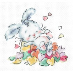 Cross Stitch Kit Bathed in love (bunny) art. 19-07