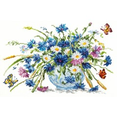 Cross Stitch Kit Cornflowers art. 40-43