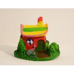 1 pcs Mini Castle Cartoon House Villa Mini Buildings Miniatures Fairy Garden