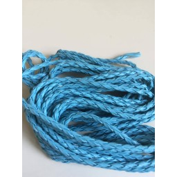 1 pcs 5m Manmade Braided Leather Cord Hemp Rope 3mm for Jewelry Making Bracelet Lake blue