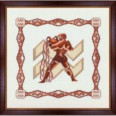 Cross Stitch Kit Horoscope Aquarius G-002