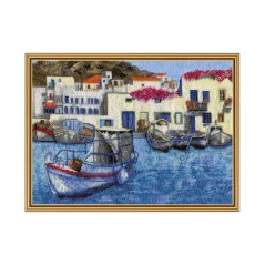 Cross Stitch Kit Morning in harbor PE4344-Y