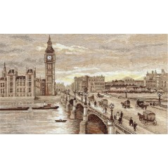 Cross Stitch Kit Golden Series GM-1254 London. Westminster Bridge