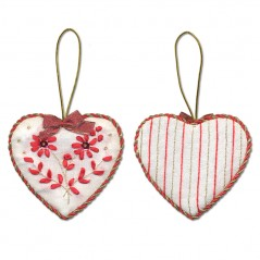 Embroidery Kit Christmas Decoration. Heart IG-1274