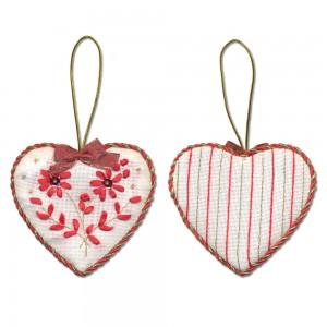 Embroidery Kit Christmas Decoration. Heart IG-1274