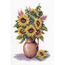 Cross Stitch Kit Sunflower Bunch C-0153