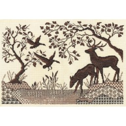 Cross Stitch Kit Deer by the River J-1295