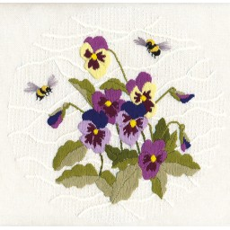 Embroidery Kit Furry Bumblebees C-1309