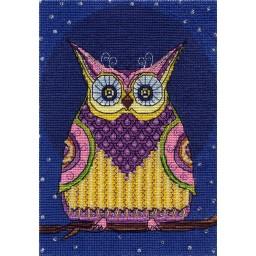 Cross Stitch Kit Night Hunter (Owl) VK-1321
