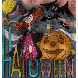 Cross stitch kit Greeting Cards. Happy Halloween (with pass-partout) OT-1353