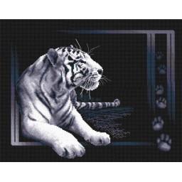Cross Stitch Kit White Tiger J-0277