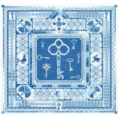 Cross Stitch Kit Power and knowledge sampler SO-1378