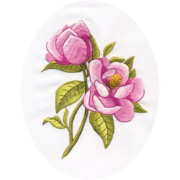 Embroidery Kit in technics satin stitch Magnolia C-1389