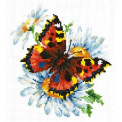 Cross Stitch Kit Butterfly and daisies art. 42-11