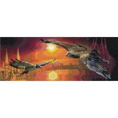 Cross stitch kit Two Skies PT-0326