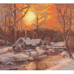 Cross Stitch Kit Winter Morning PS-0378