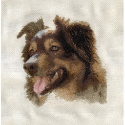 Cross Stitch Kit English Shepherd J-1474