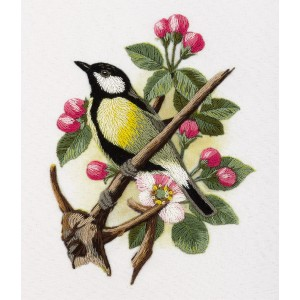 Embroidery Kit Living Picture JK-2044 Great Tit on a Branch