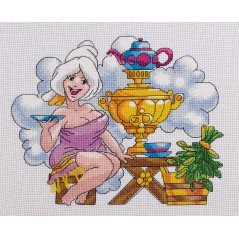 Counted Cross Stitch Kit Nothing Like a Good Sauna VK-1628