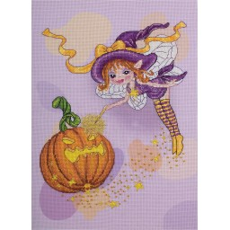 Cross Stitch Kit Fairy and Pumpkin VK-1665