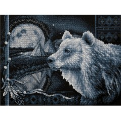Cross Stitch Kit A Bear Legend J-1714