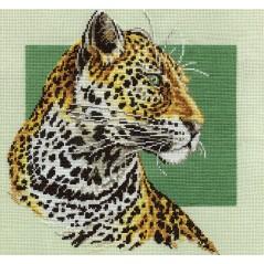 Counted Cross Stitch Kit Leopard J-0664