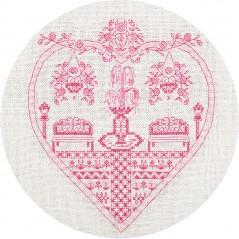 Cross Stitch Kit Pink garden SO-1768