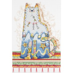 Cross Stitch Kit A fairy tale about a fisherman and fishes (cat) VK-700
