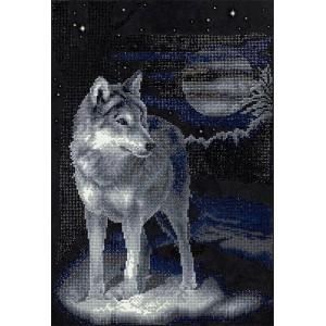 DIAMOND PAINTING KIT WOLF ALVR-26001