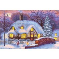 Cross stitch kit Golden Series VS-0485 Winter Cottage