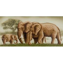 DIAMOND PAINTING KIT ELEPHANTS ALVR-22022