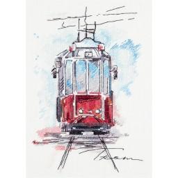Cross stitch kit City Tram GM-1923