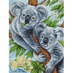 Cross Stitch Kit Fluffy Koalas J-1927