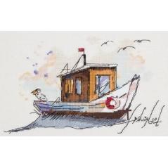 Cross Stitch Kit Fishing boat MT-1940