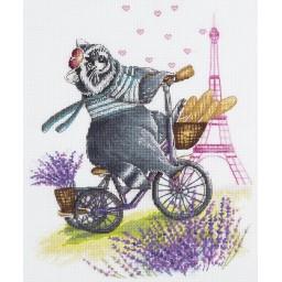 Cross Stitch Kit Cycling to my Bon-Bon J-1941